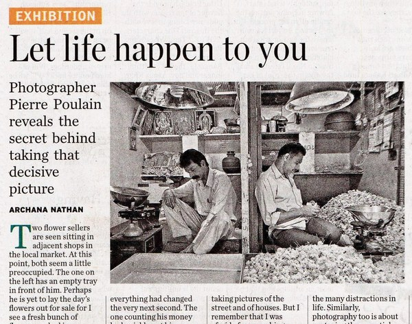 """INDIA – Let life happen to you, in """"The Hindu"""" newspaper – Pierre"""