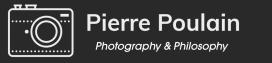 Pierre Poulain – Photographer – פייר פאולין – צלם – Pierre Poulain – Fotógrafo – Pierre Poulain – Photographe Logo